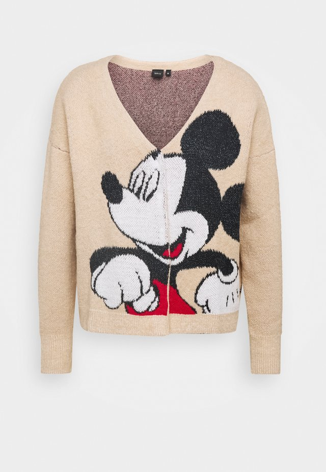 JERS MICKEY - Chaqueta de punto - arena
