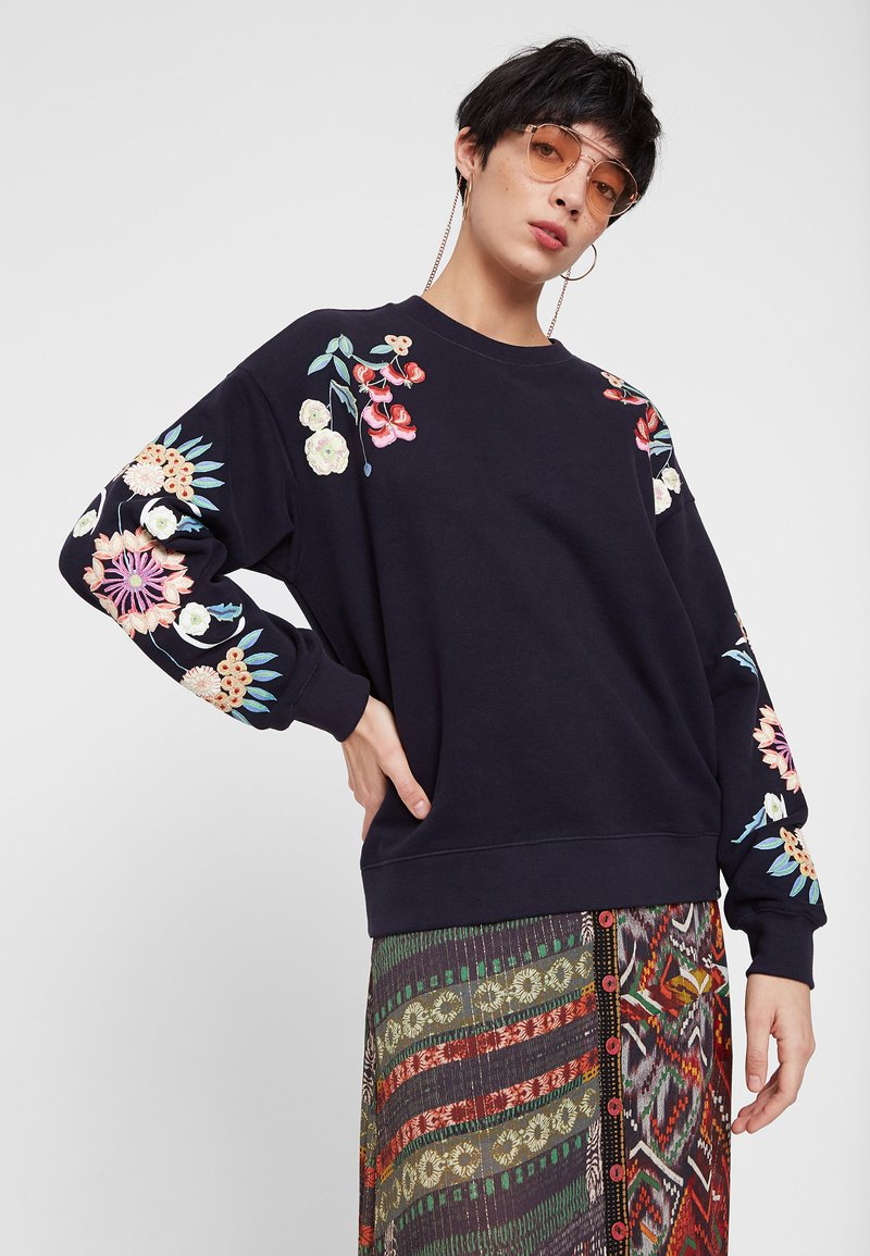 Desigual - SWEAT_GARRET - Sweatshirt - blue