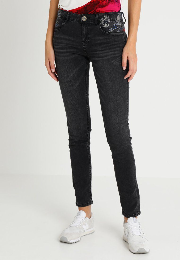 Desigual - REFRIP - Jeans Slim Fit - denim black wash