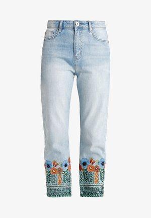 COPENHAGEN FLOWERS - Relaxed fit jeans - blue