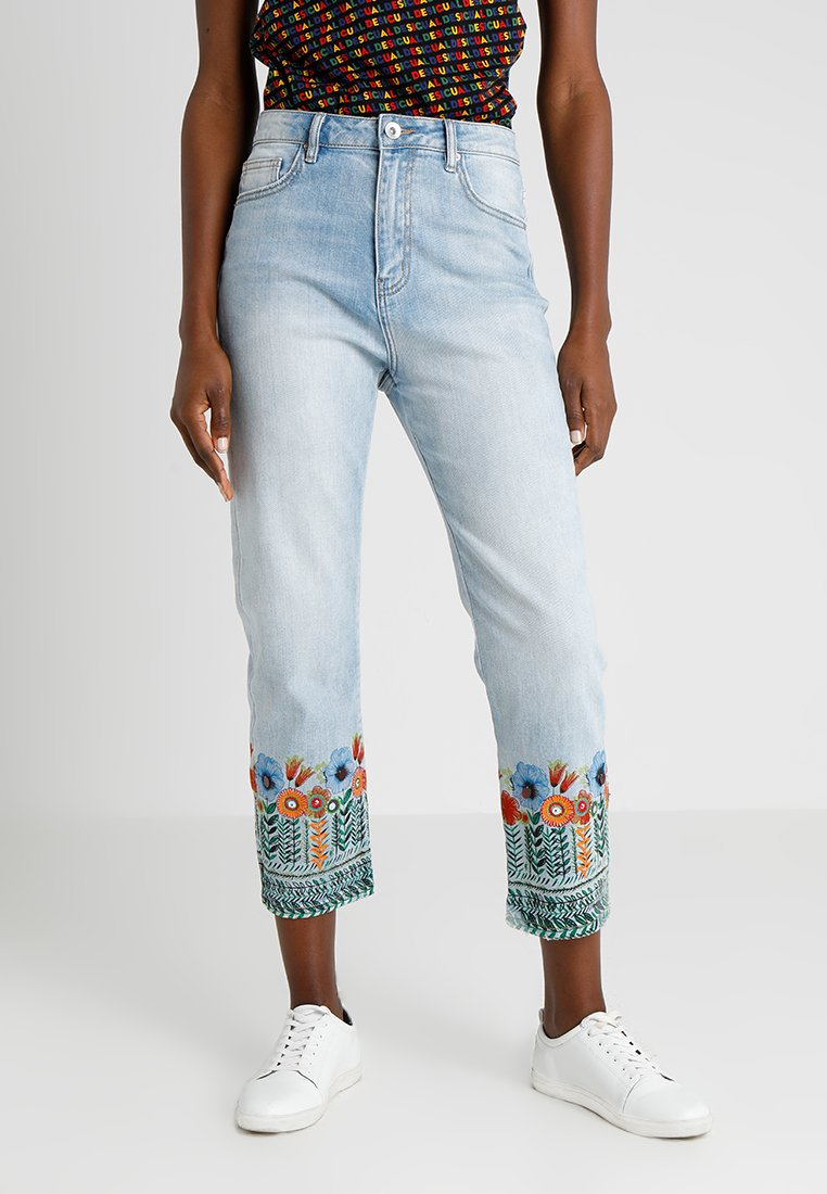 Desigual - COPENHAGEN FLOWERS - Relaxed fit jeans - blue