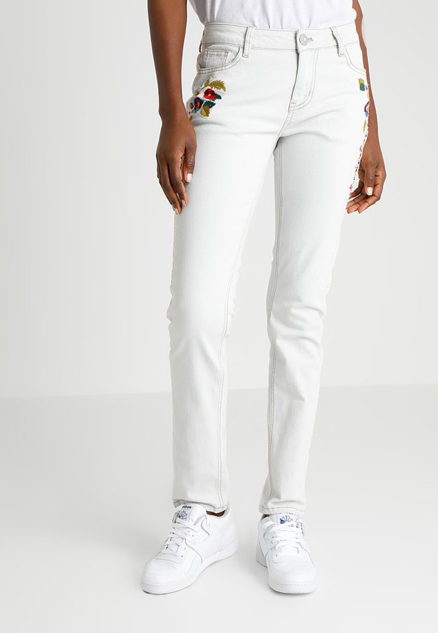 VOLOS - Jeansy Skinny Fit - white denim