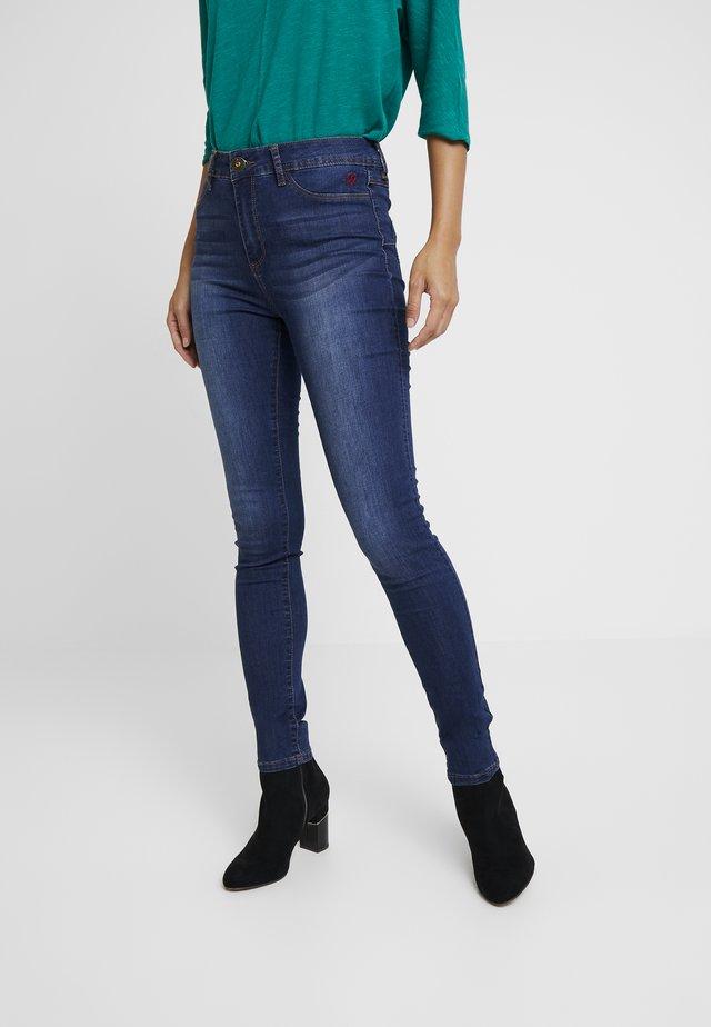 BASIC SKIN - Slim fit jeans - denim medium wash