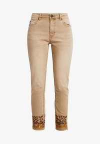 Desigual - PANT MIAMI COLORS - Jean slim - crudo beige - 5