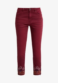 Desigual - PANT MIAMI COLORS - Jean slim - biking red - 5