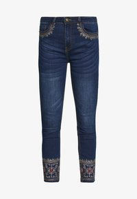 Desigual - FLOYER - Vaqueros slim fit - denim dark blue - 4