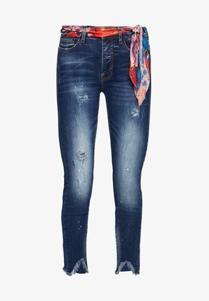 RAINBOW - Džíny Slim Fit - denim dark blue