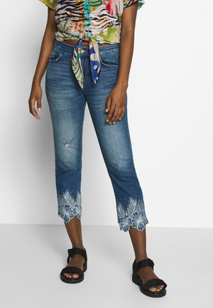 HAWIBIS - Jeansy Slim Fit - denim medium wash