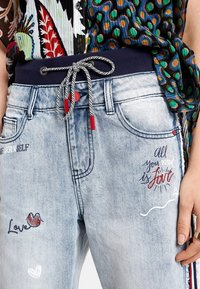 Desigual - Straight leg jeans - blue - 3
