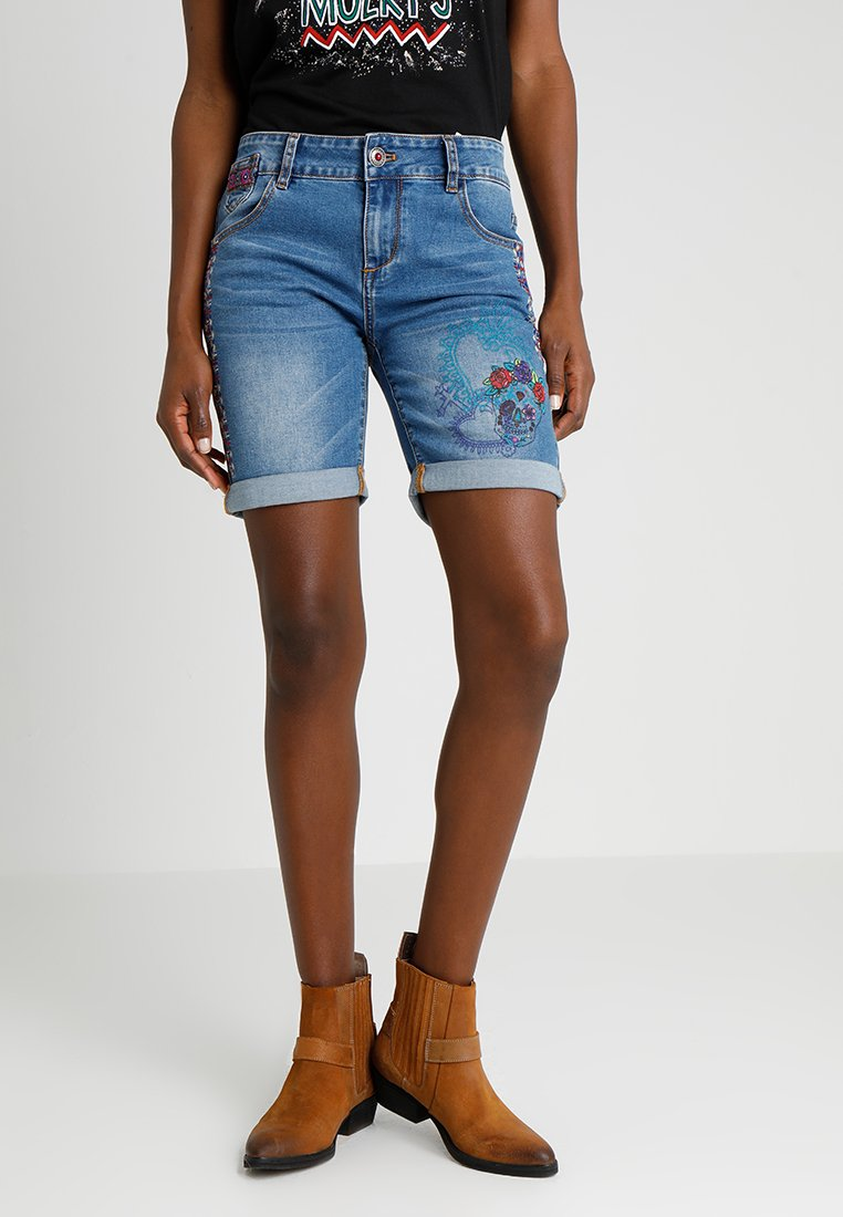 Desigual - CATRINA - Denim shorts - blue