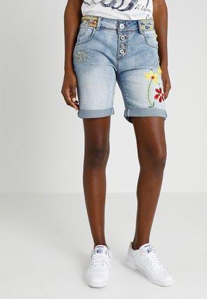 HABANA FLORES - Short en jean - blue