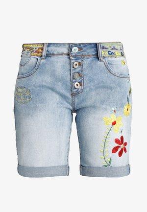 HABANA FLORES - Denim shorts - blue