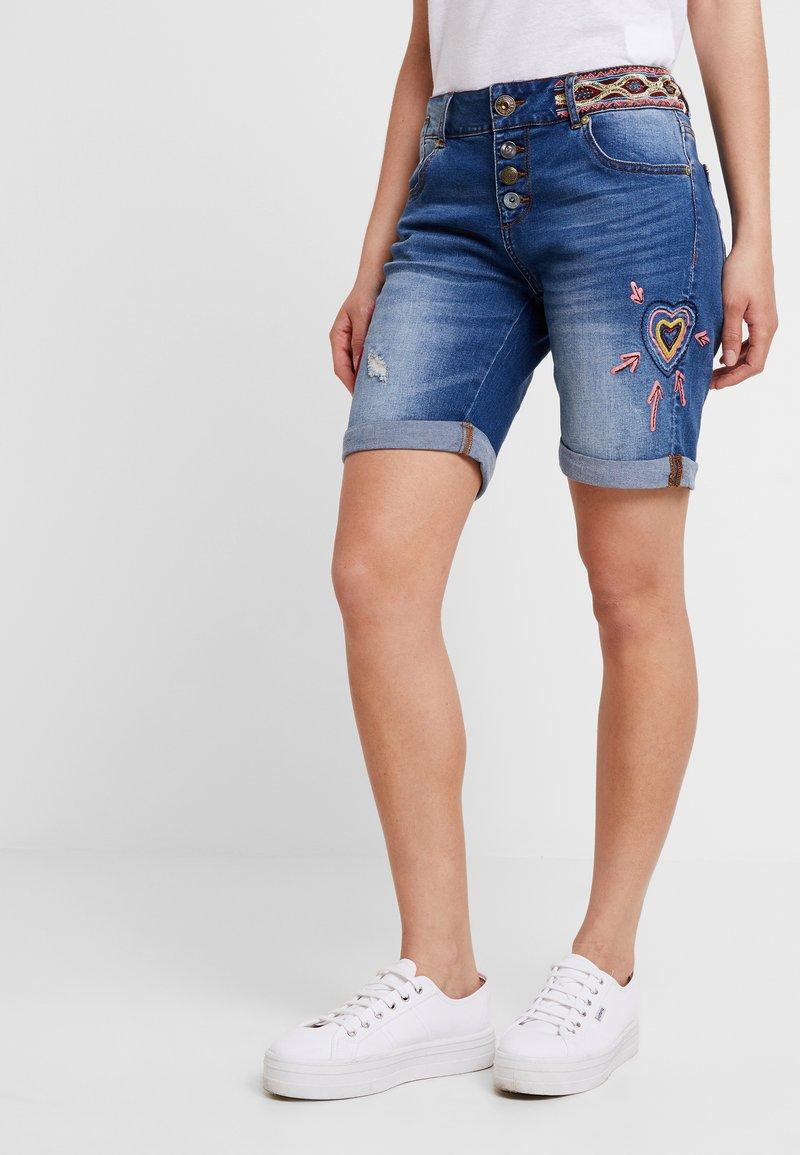 Desigual - LOVE HABANA - Shorts di jeans - denim medium wash