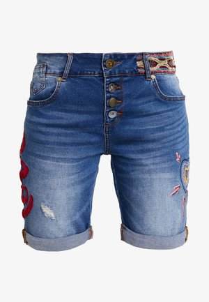 LOVE HABANA - Szorty jeansowe - denim medium wash