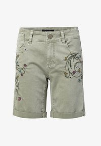 Desigual - Shorts di jeans - green - 4