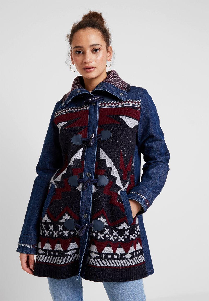 Desigual - CHAQ NAVAI - Short coat - denim dark blue