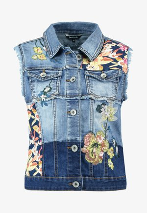 LINZ - Vest - denim medium dark
