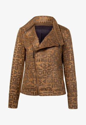 CHAQ LOU - Faux leather jacket - yellow