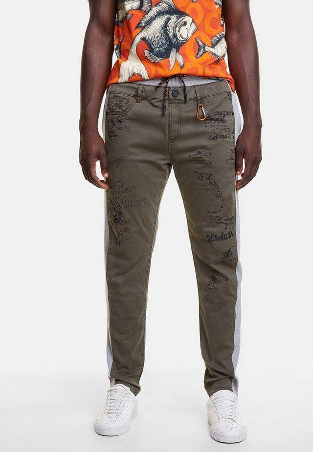 NISSIM - Pantalones - green