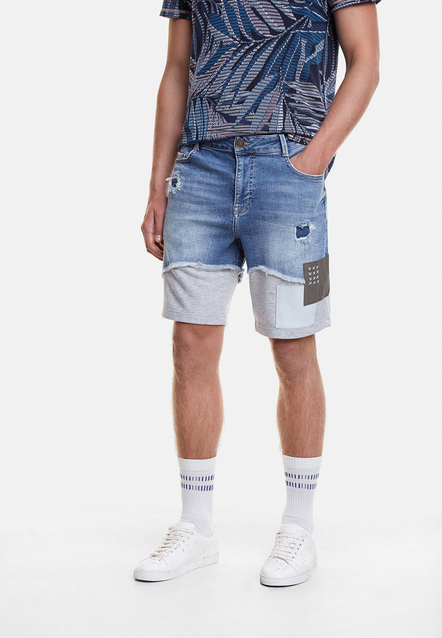Desigual AXEL - Szorty jeansowe - blue