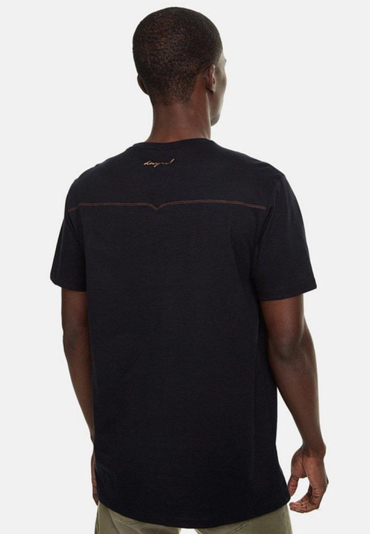 EnriqueT Desigual Imprimé shirt Black pjSGUMLqzV