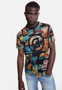 Desigual - TS_LOGAN - T-Shirt print - black - 0