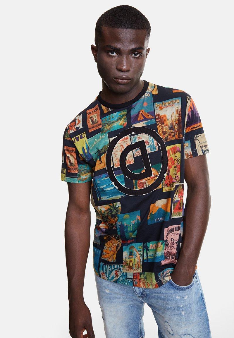 Desigual - TS_LOGAN - T-Shirt print - black