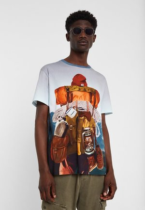 TS_MONTAIN - Print T-shirt - black