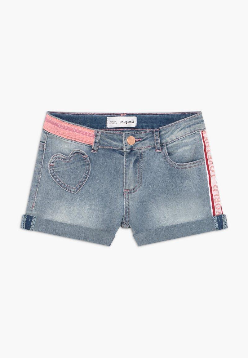 Desigual - RODRIGUEZ - Denim shorts - blue denim