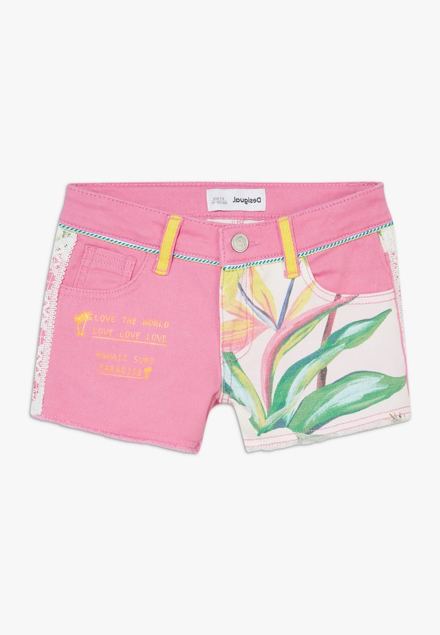 LOPEZ - Shorts di jeans - rosa marlen