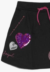 Desigual - CORE - Áčková sukně - black - 2