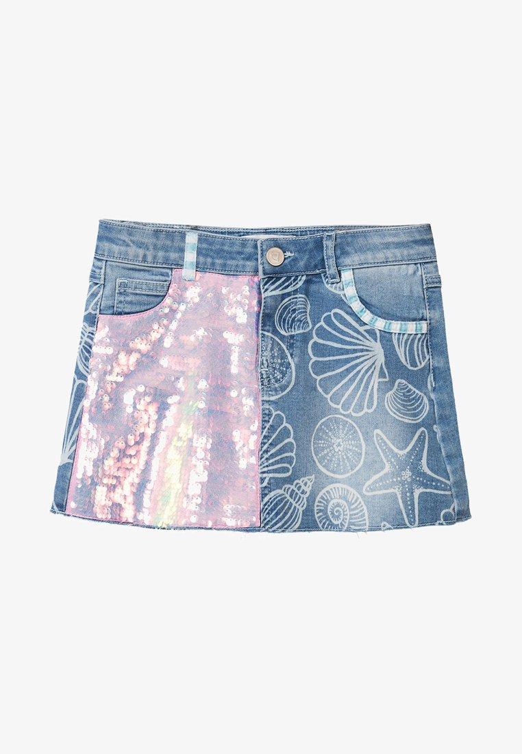 Desigual - COLUMBIA - Denim skirt - blue