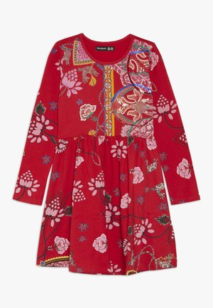 IXTAPALUCA - Žerzejové šaty - rojo