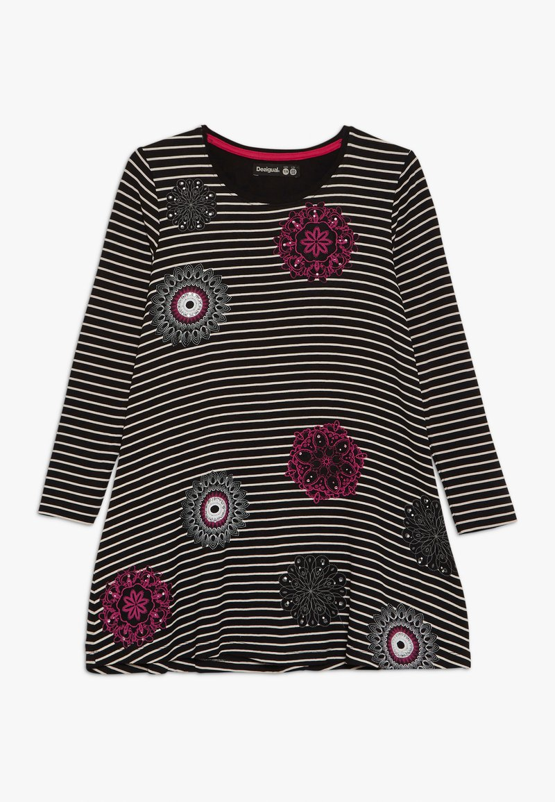 Desigual - PASAS - Žerzejové šaty - black