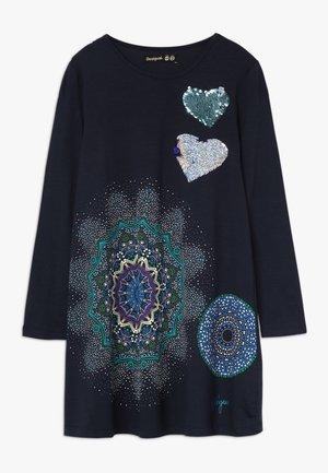 PERA - Žerzejové šaty - navy