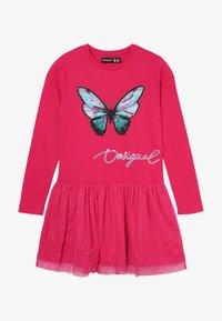 Desigual - VEST AGUASCALIENTES - Jersey dress - fuchsia rose - 2