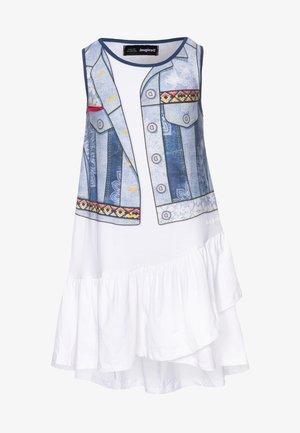 CUAUTITLÁ - Robe en jersey - blanco
