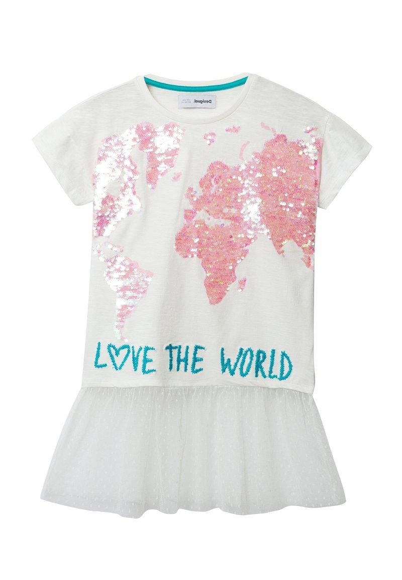 Desigual - TS_COVENTRY - T-shirt imprimé - white