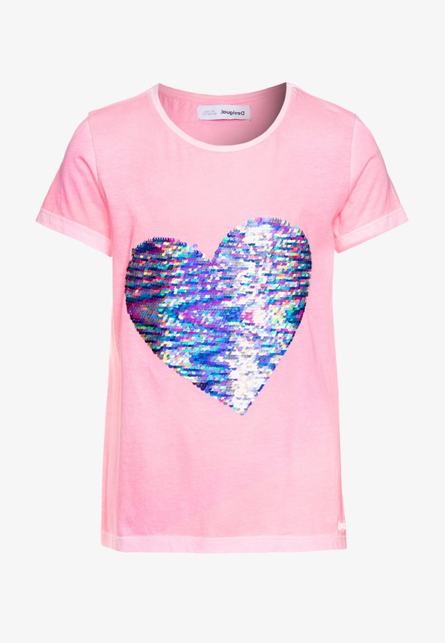 IPSWICH - T-shirt con stampa - rosa fluor