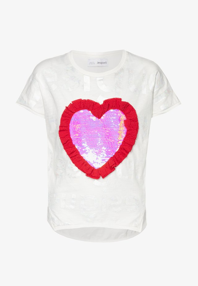 NORTHAMPTON - Camiseta estampada - crudo