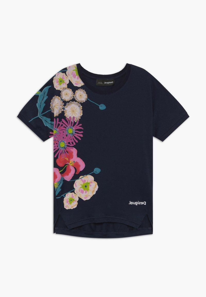 Desigual - RHODE ISLAND  - Print T-shirt - navy