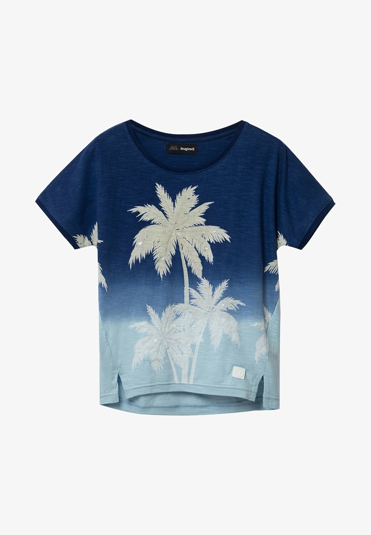 Desigual - EASTBOURNE - T-shirt print - blue