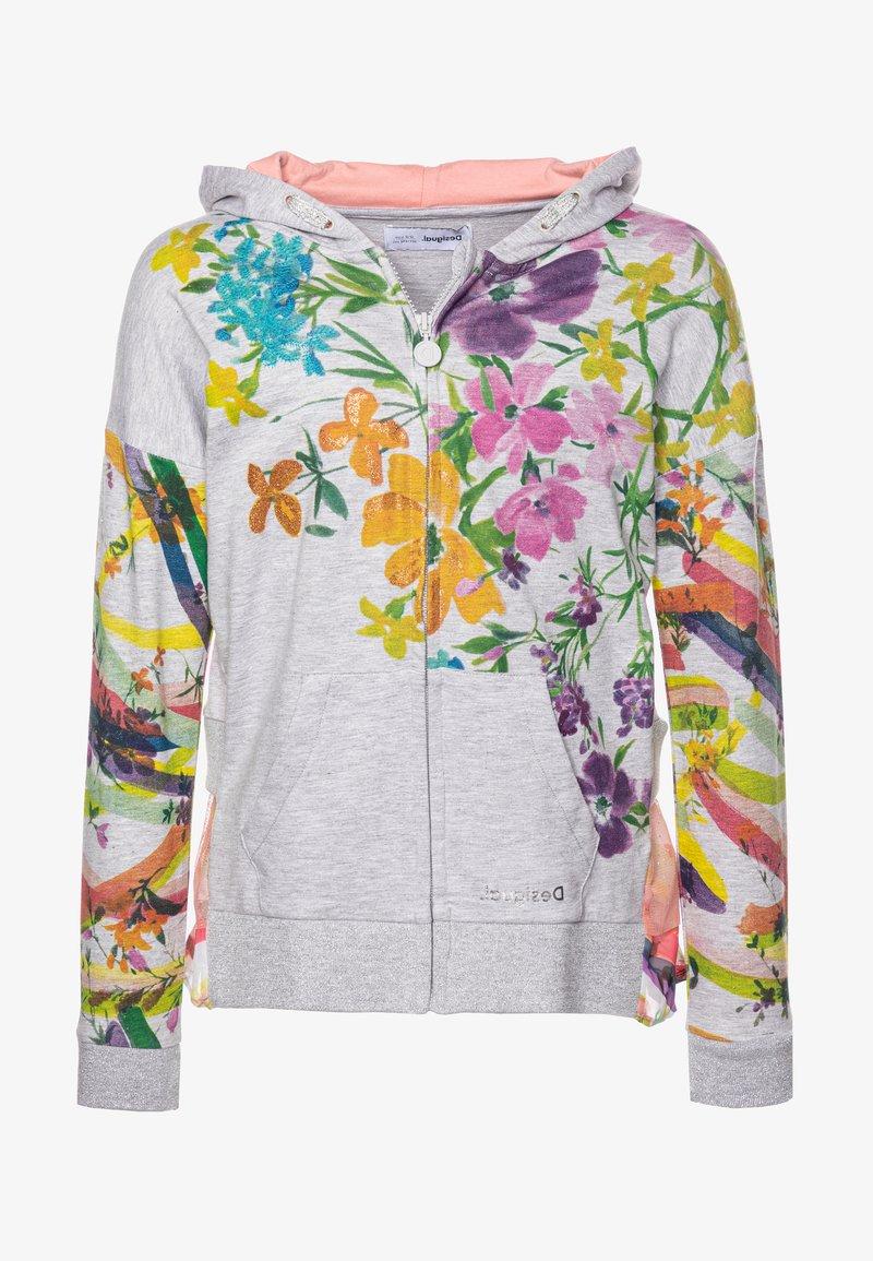 Desigual - ALASKA - Zip-up hoodie - gris vigore claro