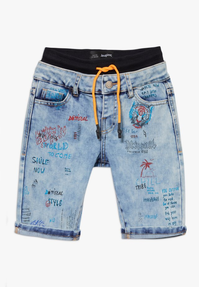 CASTRO - Shorts vaqueros - blue