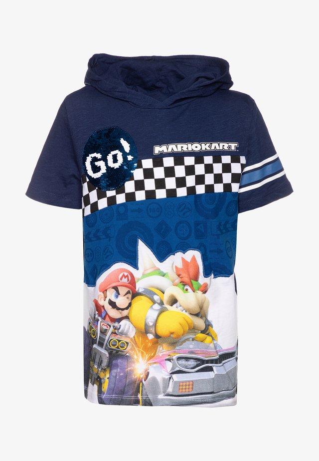 RACE - Camiseta estampada - navy