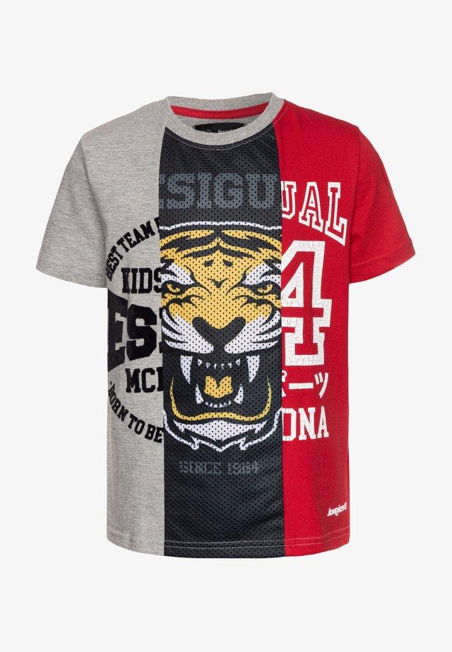 RAFAEL - T-shirt med print - gris vigore medio