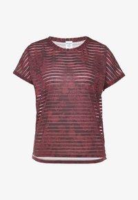 Desigual - TEE STRIPES PATCH - T-shirt print - ruby wine - 5