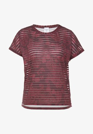 TEE STRIPES PATCH - T-shirt print - ruby wine
