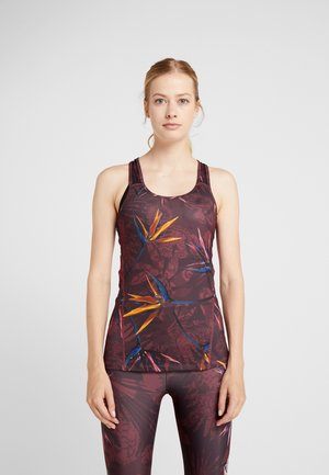 TANK TECH ETHNIC - Top - ruby wine