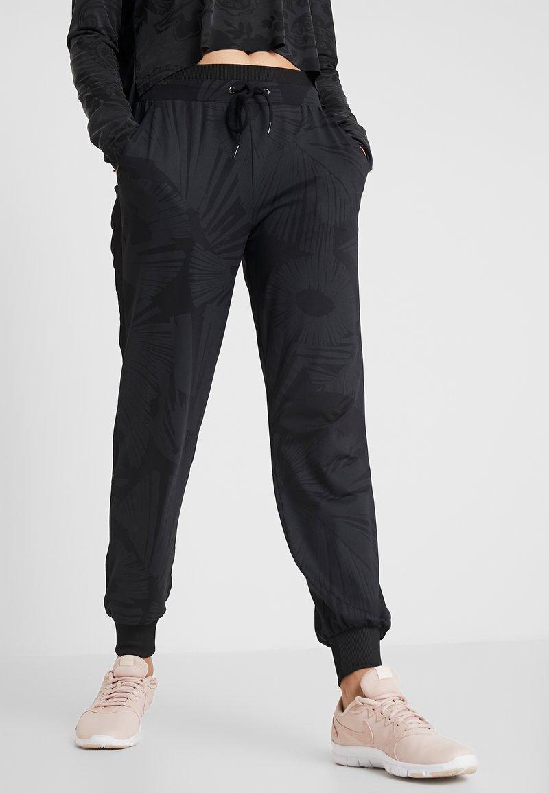 Desigual - PANT ARTY - Träningsbyxor - black